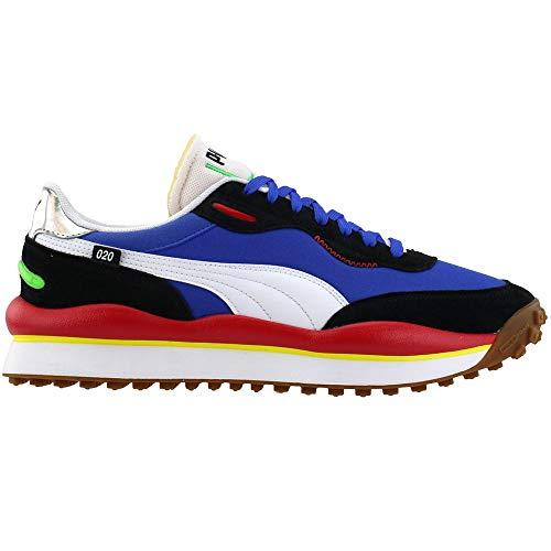 Puma Select Rider 020 - Scarpe da ginnastica da uomo, blu (Scarpette a strappo Voltaic 3 Velcro Fade - Bambini), 37.5 EU