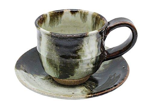 唐津焼 つつえ窯 コーヒー碗皿 朝鮮唐津 731664