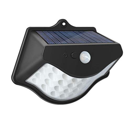 GAXQFEI Lámpara de Pared de Inducción Solar W-Star, Led 32 Super Solar Solar Light Aire Libre, Inducción de Infrarrojos, Luz de Pared Segura Impermeable 3 Tipos Modo Brillante, Batería de 1800Mah (20