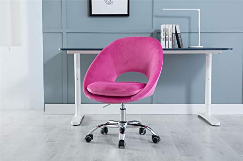 COZEON Home Office Chair with 5 Stars Base, Padded Upholstered Seat, Modern Adjustable Height 360 Degree Swivel Chair