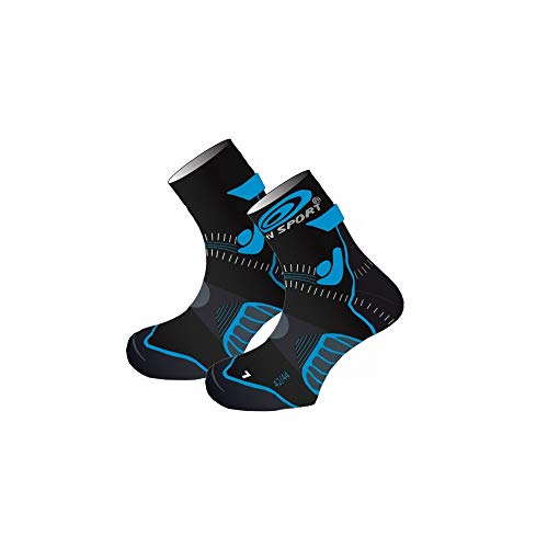 BV Sport–Calcetines Trail Evolution Negras y Azules Calcetines Trail
