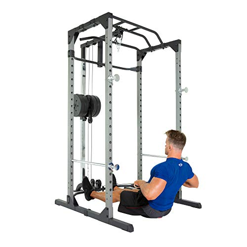 Fitness Reality 810XLT Super Max Power Cage | Optional Lat Pull-down Attachment and Adjustable Leg Hold-down | Lat Pull-down Attachment Only