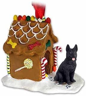 Conversation Concepts German Shepherd Gingerbread House Dog Christmas Ornament - Black