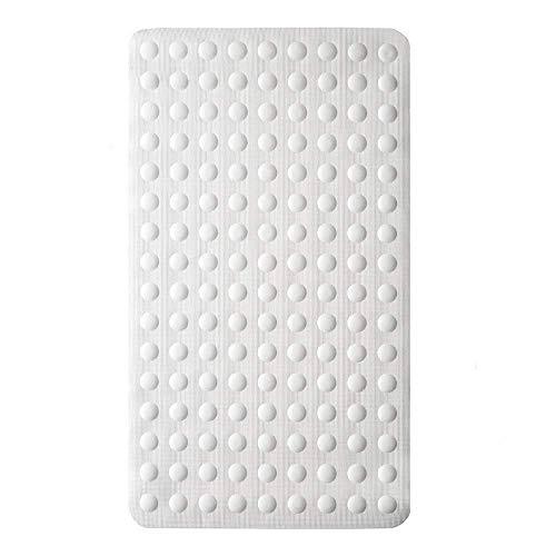 Gelrovaお風呂マット 浴槽 滑り止めマット 転倒防止 介護用品 痛くない 吸盤付き 40×70cm 天然ゴム製 ホウイト
