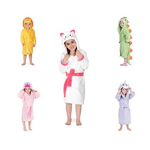 Bata De Baño Esquimal *ultrasecado* para Niños De 3 A 6 Años (Gatita)