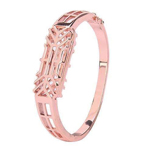 DAUERHAFT Correa de Banda de Reloj, Correa de Banda de Pulsera Inteligente de Moda de Oro Rosa Resistente a la oxidación Desmontable, para Fitbit Flex 2 Fashion