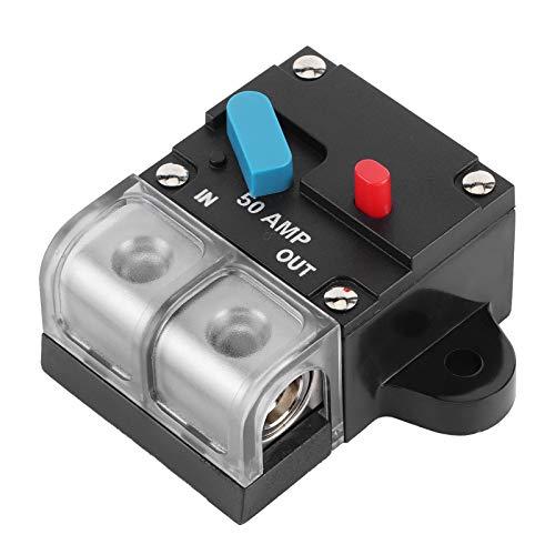 AMP Leistungsschalter, 12-24 V DC Universal Leistungsschalter Sicherungsrückstellhalter Leistungsschalter Schalter Für Auto RV Yacht(60A)