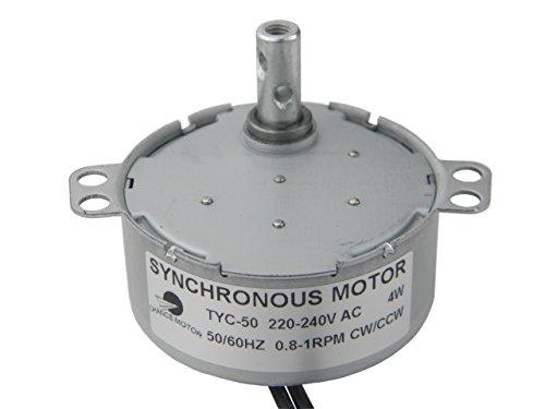 TYC-50 Motor sincrónico 220V AC 0.8-1RPM CW/CCW Motor eléctrico de sincronización