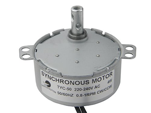 CHANCS Synchronmotor TYC-50 AC 220V 0.8-1RPM CW/CCW Drehmoment 10Kg.cm 4Wr Power Getriebemoto