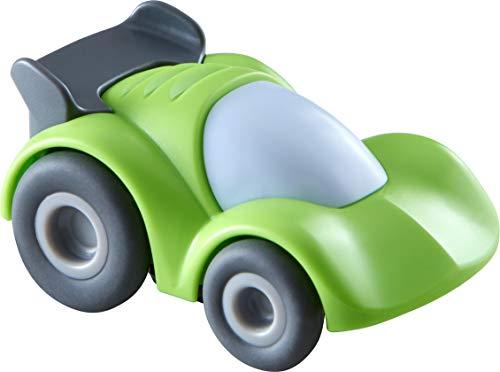 HABA 305561 - Kullerbü – Grüner Sportwagen, Spielzeugauto ab 2 Jahren mit Schwungmotor, als Ergänzung zur Kullerbü-Bahn und für freies Spiel, Rennauto mit Schwungmotor zur Kullerbü Kugelbahn
