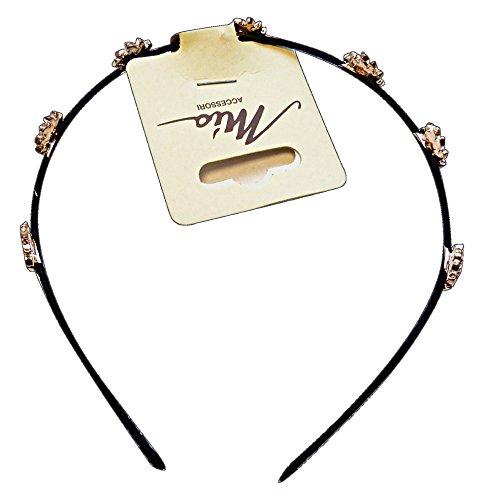 Haarband f10788 strass goud-roze - haarsieraad