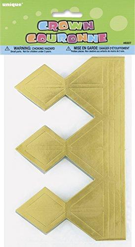 Unique Party Supplies 8307 Partyhut - Papier-Goldkrone