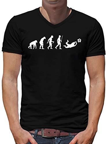 TShirt-People Evolution - Camiseta de portero para hombre, diseño de evolución de la Bundesliga Negro  L