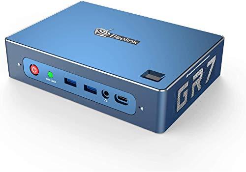 Beelink GTR - Mini PC AMD Ryzen 7 3750H procesador (2,3 hasta 4 GHz) 16 GB RAM 512 GB SSD Bluetooth 5.0 Dual Gigabit Ethernet DP HDMI USB C High Performance 4 K Ordenador para Business Office Gamer