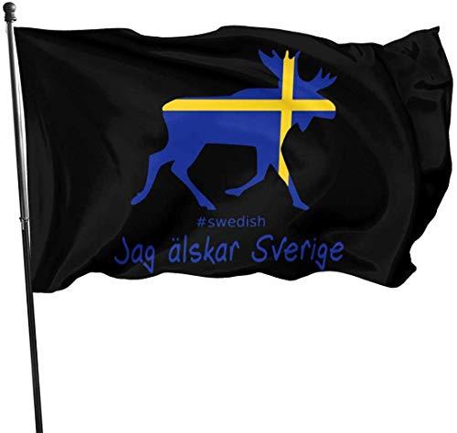 Simple Love Av Ich Liebe Schweden Elch Design US Flagge Outdoor Flags Banner Flags Home House Flags