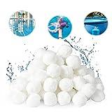 Filtro Balls, Sfere per Filtrazione a Sabbia per Piscine, 700g Filtri Balls può Sostituire la da 25 kg di sabbia filtrante per Piscina, Adatto a Vari Filtro a Sabbia, Pompe Filtranti, Filtri Acqua