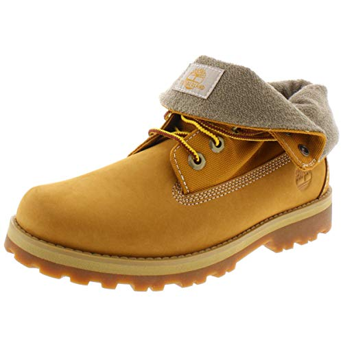 Timberland Boys' Courma Roll Top Boot Ankle, Wheat Nubuck, 010M Medium US Little Kid