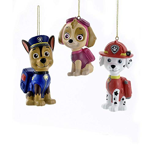 Kurt Adler Paw Patrol Cartoon Character Ornament Set