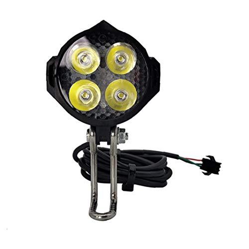 Luz de la bicicleta eléctrica con el cuerno E-bici del faro con...