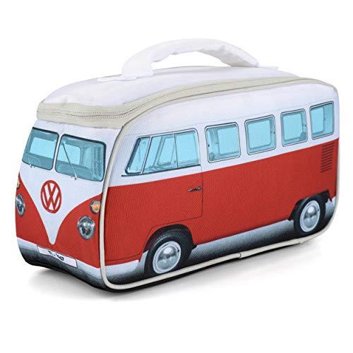 Volkswagen VW-Lunchbag, VW Bulli T1 Samba, Unisex für Erwachsene und Kinder, VW-Geschenke, Rot