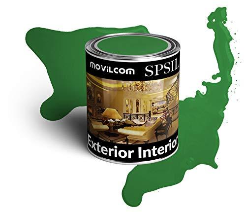 MovilCom® - Bote de pintura alquídica esmalte interior exterior color Verde hierba, 125ml, mod.8747