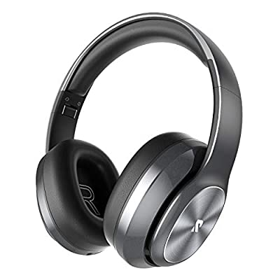 Rydohi Wireless Headphones Over Ear, [100 Hrs Playtime] Bluetooth Headphones, Foldable Hi-Fi Stereo Bass, Soft Memory Earmuffs, Built-in HD Mic, Wired Mode for TV/PC/Phone (Grey) from Rydohi