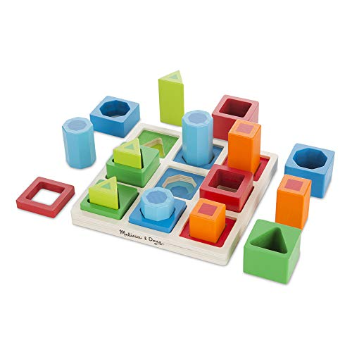Melissa & Doug 10582 Doug Toy Shape Sequence Sorting Set, Multicolour