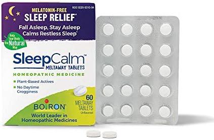 Boiron Sleepcalm Melatonin Free Tablets Homeopathic Sleep Aid Calm Restless Sleep Zzzs for Adults product image
