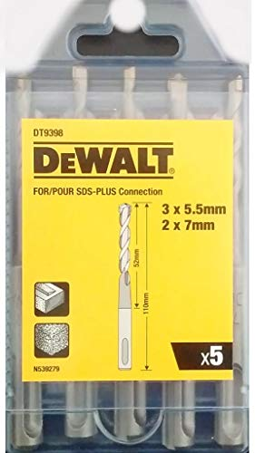 Dewalt dewdt9398mqz dt9398 SDS Plus boren set 5 stuks display van 1