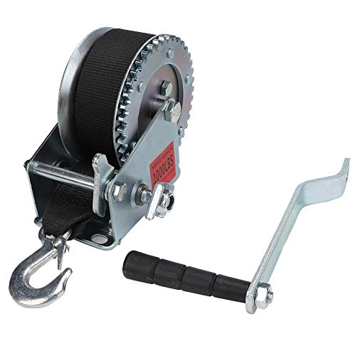 Buy Cheap 1000LBS Hand Crank Winch Hand Winch with 6M Polyester Strap Heavy-Duty Universal for Boat ...
