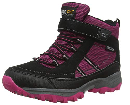 Regatta Mädchen Trailspace II Mid Trekking- & Wanderhalbschuhe, Pink (Jem/Black 7Ri), 33 EU