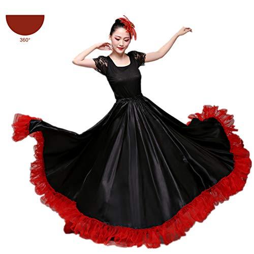 Disfraz de baile gitano para mujer, falda coro, escenario espaol, corridas de toros, Bigdance