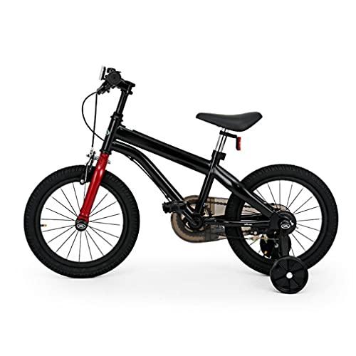 14/16 Pulgadas Bici Infantiles Bicicleta para NiñOs con Ruedas Auxiliares Asiento De Espuma Ajustable Frenos Dobles NeumáTicos De Goma Adecuado para NiñOs Y NiñAs De 3 A 9 AñOs