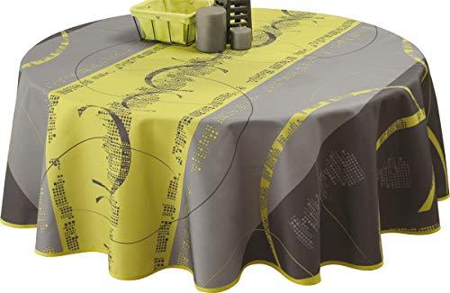Le linge de Jules Nappe Anti-Taches Astrid anis - Taille : Ronde diamètre 160 cm