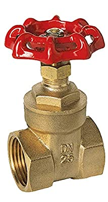 "4"" Wheel Operated Gear Brass Gate Valve for Drip Irrigation, Female Thread (FPT x FPT), 1 Year Warranty, by Zotexa (4"") by Zotexa LLC"
