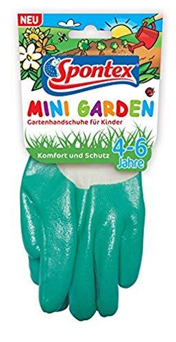 Spontex 12130002 - Guantes de jardinería para niños de 4-6 años (1 par)