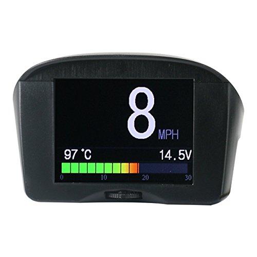 AUTOOL X50 PLUS OBDII OBD2 Digital KMH/MPH Auto-HUD-Geschwindigkeitsmesser u. Überdrehzahl-Alarm Auto-Spannungs-Meter-Wasser-Temperatur-Messgerät mit LCD-Anzeige für 12V das meiste Benzin u. Diesel