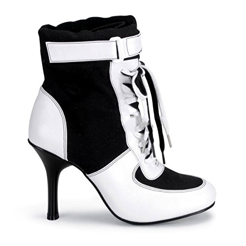 Funtasma High Heel Turnschuh Classic Sneaker REFEREE-125 Sporty Air Schwarz Weiß, Größe F:8 US / 38