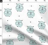 Origami, Eule, Geometrisch, Dreiecke, Mint, Linien,