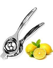 COM-FOUR® citruspers van roestvast materiaal - handmatige citruspers voor citrusvruchten - citruspers voor citroenen, limoenen
