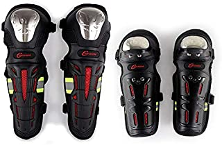 Redcolourful Motorcycle Motocross Knee Shin Elbow Guards Pads Racing Safety Protective Gear Accessories