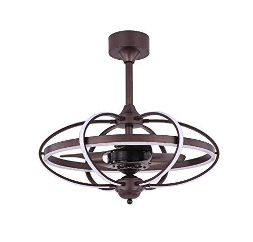SKSNB Ventilador de Techo LED Moderno, luz de Aluminio, Control Remoto, Ventilador inversor, lámpara Colgante para Restaurante, Dormitorio, Sala de Estar, Comedor