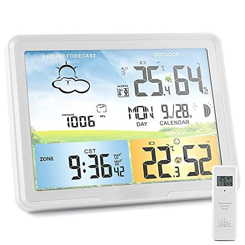 estación meteorológica con sensor inalámbrico de la marca FHISD