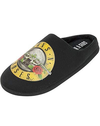 Guns N' Roses Logotipo de la Banda de Bala Hombres de Negro Zapatillas Mula