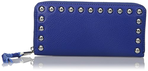 Rebecca Minkoff Women's Ava Zip Wallet with Studs, Cobalt, One Size