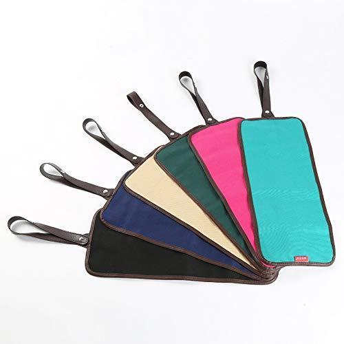 2020 Material de Bellas Artes Bolsa de Lona con Soporte For lápiz de Color de 36 Agujeros Bolsa de Lona Moda (Color : Black)