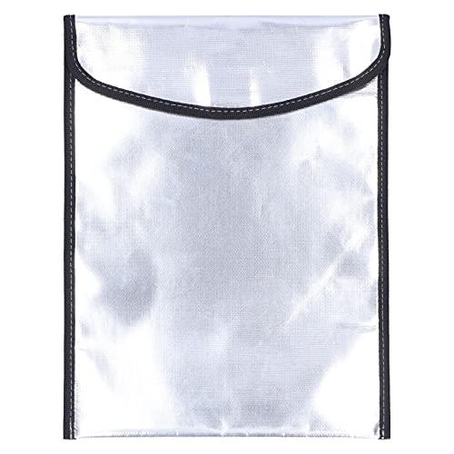 Bolsa Ignífuga de 10.2x13.4in, Bolsas de Documentos Ignífugas Bolsa de Dinero Ignífuga Juego de Bolsa Ignífuga para Objetos de Valor