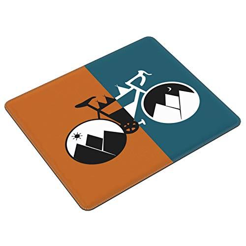 Mauspad mit Sonnenuntergang und Bergkutsche, Cartoon-Fahrrad, Gaming-Mauspad, Laptop, Computer, Tastatur, Mauspad, Büro, Raum, Heimdekoration, Zubehör