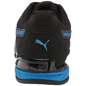PUMA Men's Tazon 7 Running Shoe, Black-Future Blue, 13