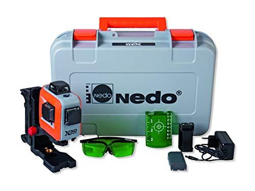 Nedo X-Liner 3D green Profi Linienlaser Multilinien-laser grün mit stabilem Koffer und viel Zubehör